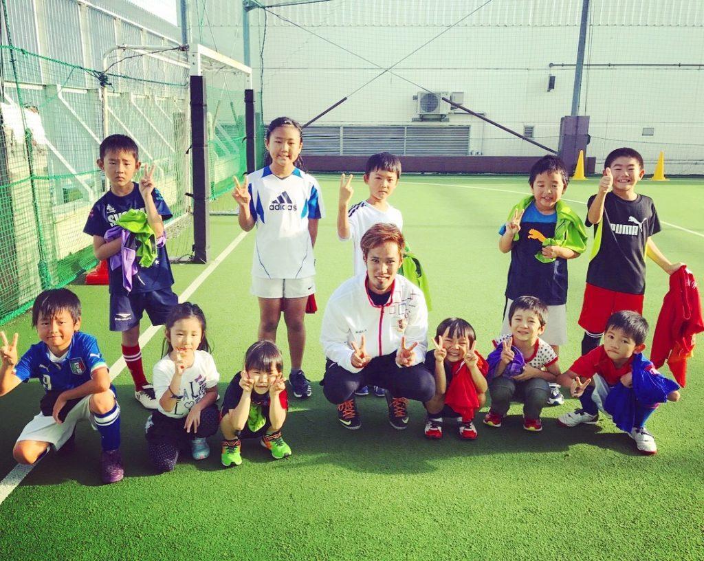 サッカー教室開催