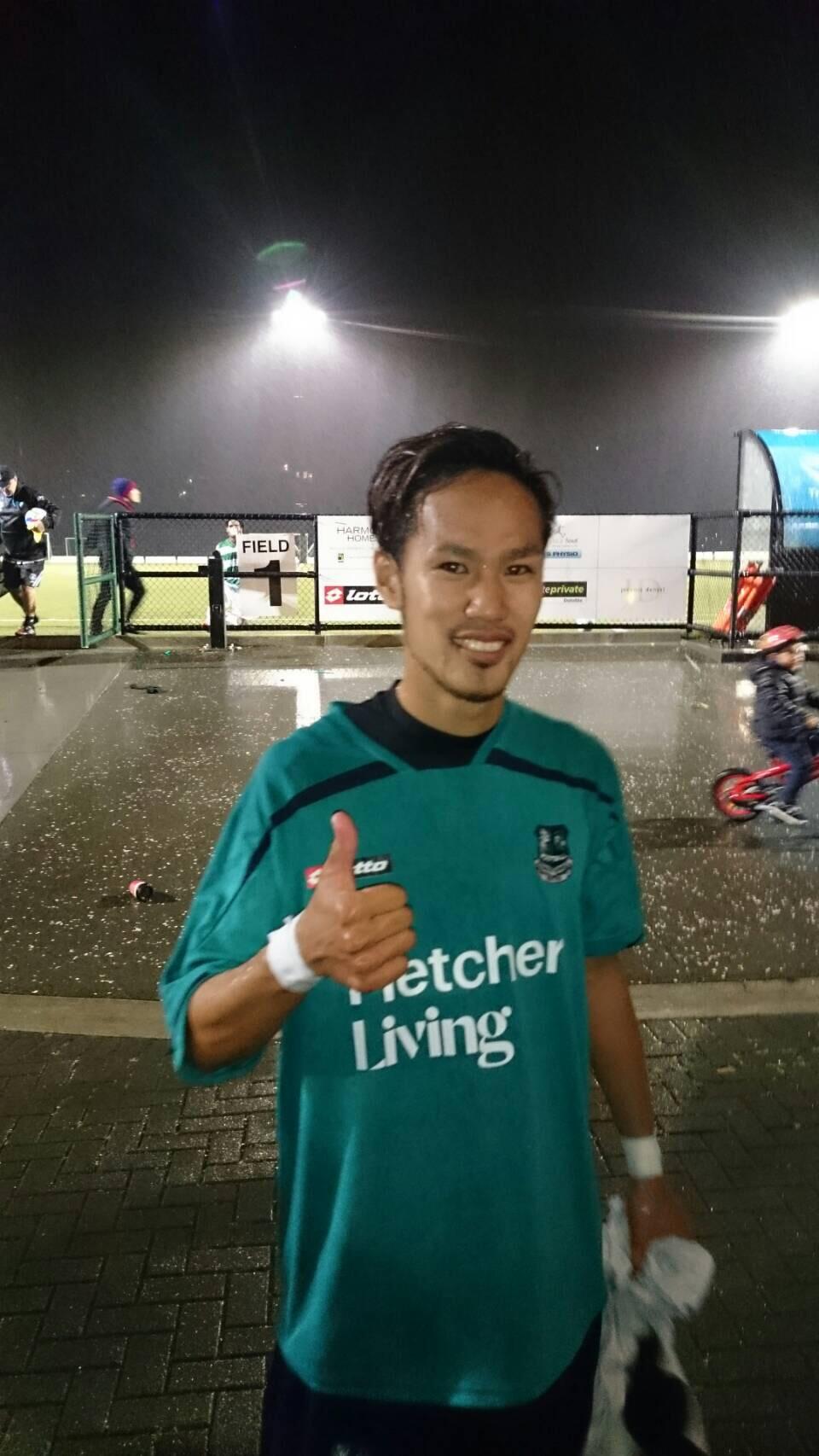 NZデビュー戦、初ゴール!